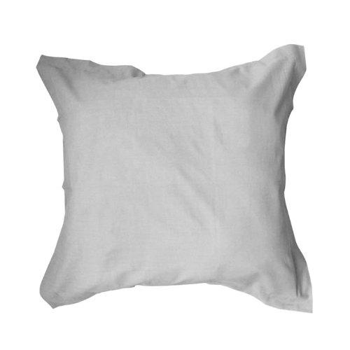 Taie d'oreiller à volant plat ZINC 100% coton 57 fils