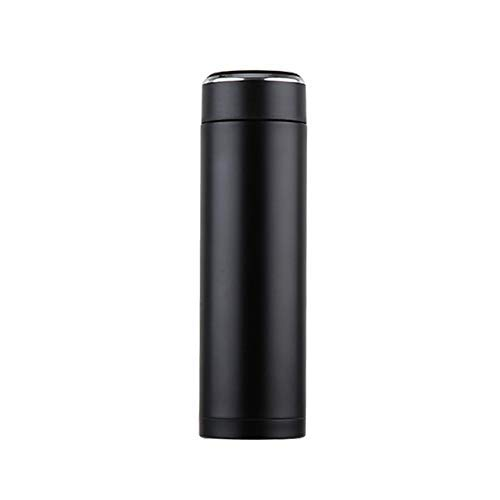 Taza Taza de café con la Tapa Termocup Sello Acero Inoxidable Frascos de vacío Taza Termo para Botellas de Agua de Coche, AQW310 380ml Negro HMP (Color : Aqw541 500ml Black)
