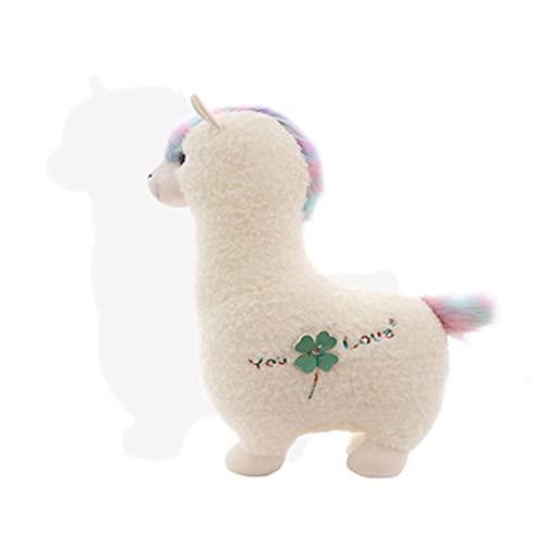 YMSM Cartoon Toys Cute Alpaca Doll Stuffed Animal, Cute Alpaca Plush Stuffed Animal Toy, Cuddly Alpaca Pillow Christmas Birthday Gift for Adults Kids Girls Boys.