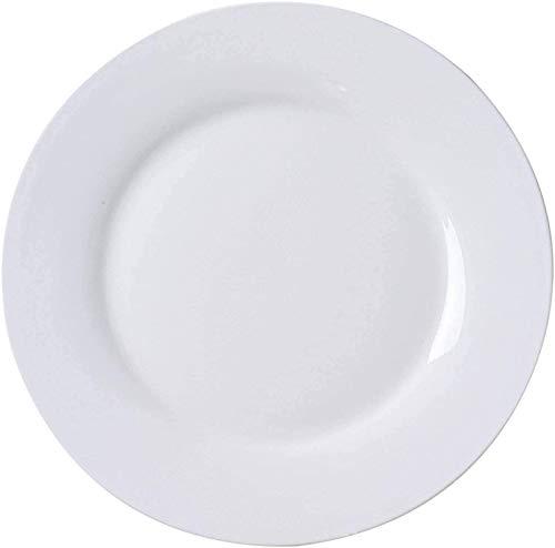 TREEECFCST Platos Vajilla Placa Blanca, vajilla Cena Duradero Platos de Desayuno Placa de Cocina Comedor Partido del niño de 10 Pulgadas (Talla : 9 Inch)