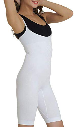 UnsichtBra Shapewear Damen Bauch Weg Body | Bauchweg Unterwäsche Korsett - Funktion | Eigener BH Bodyshaper für Frauen in schwarz, weiß u. beige (sw_2100)(XXXL (56-62),Weiss)