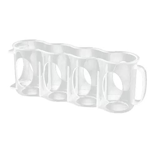 Estante de plástico para nevera, almacenamiento de cocina, cervezas, soporte de soda para almacenamiento de cocina, organización 0414 (color: transparente)