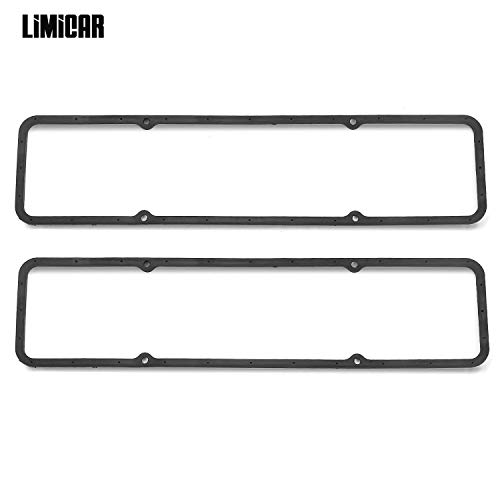 LIMICAR SBC Steel Core Rubber Valve Cover Gaskets Small Block
