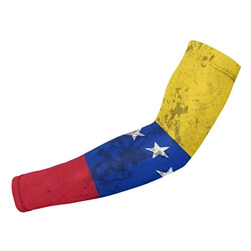 JHUIK Bandera de Venezuela Mangas de brazo Protección UV Protecciones de brazo de compresión para ciclismo Correr Golf Baloncesto Calentador Enfriamiento Guantes protectores para hombres Mujeres Jóven