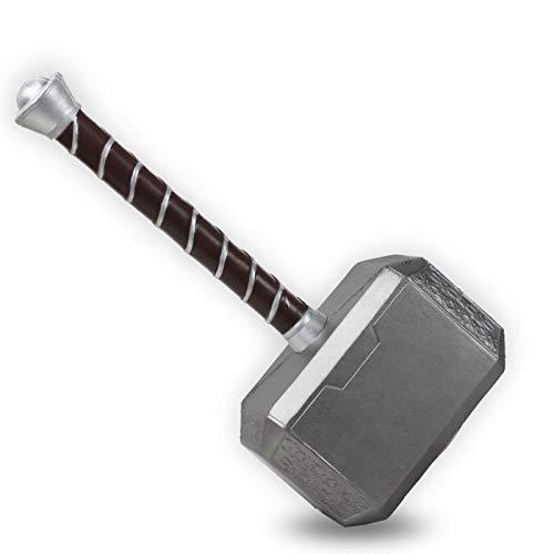 Avengers Thor Hammer Toys Movie Props Replica Disfraz de Cosplay Prop Thor Hammer, Halloween Navidad Cumpleaos Mejor regalo, PU Made 17 in A