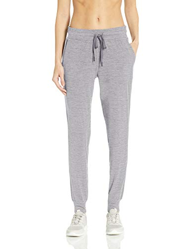 Amazon Essentials Brushed Tech Stretch Jogger Pant Running-Pants, Grey Spacedye, US S (EU S - M)