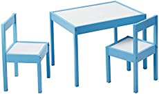 AmazonBasics Kid Table Set with Dry Erasable Table Top