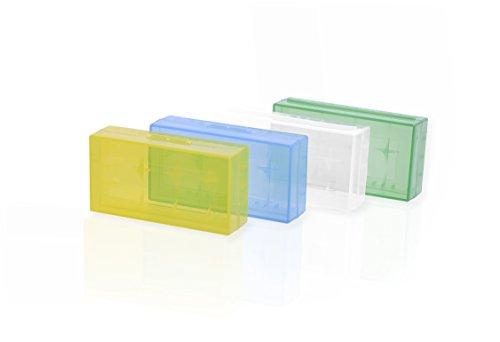 4 x Batterie Box, boîte de Rangement, pour 4 x 18650 16340, 17500, 17650 Piles, Battery Case