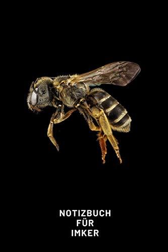 Notizbuch Für Imker: A5 Taschenbuch für Bienenspezialisten mit einer Biene auf dem Cover | Zeidler Imkereibedarf