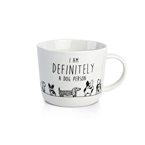 Dutch Rose Kaffeetasse Dog Person 280ml Cappuccinotasse Kaffee-Tasse Cappuccino-Tasse Kaffeebecher für Kaffee Hund Hundeliebhaber Kaffee-Becher Porzellan Teetasse Tee-Tasse Tasse Becher