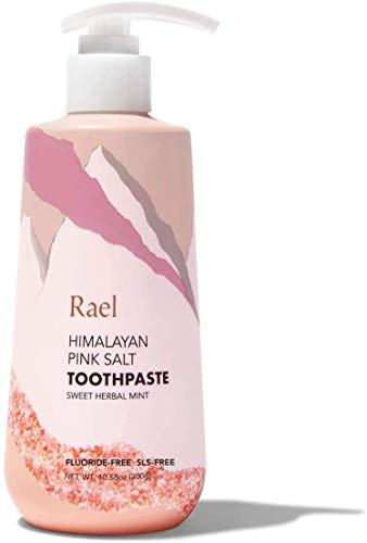 Rael Himalayan Pink Salt Toothpaste - Natural, Vegan, Paraben-Free, Fresh Breath, Oral Care (Sweet Herbal Mint, 300g (Pump))