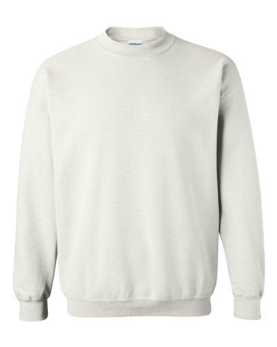 Gildan Men's Heavy Blend Crewneck Sweatshirt - Medium - White