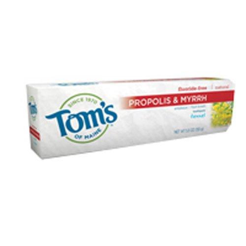 Tom's Of Maine Propolis & Myrrh Fluoride Free Toothpaste, Fennel 5.5 oz