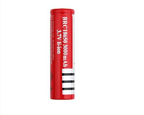 Cargador de Coche Universal para Ordenador portátil Batería de Litio de 18 * 65 Mm 3000 Mah 3,7 V Linterna Brillante con una batería de Carga Puntiaguda Especial - (10 Piezas)