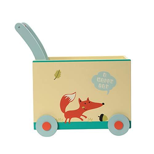 Trotteur Bois Trotteur Cartoon Kid Panier Walker Jouet anim avec roues tout-petits en plein air Activité Walker for 1-3 Ans pour Enfants Enfants Garçons et Filles ( Color : Multi-colored , Size : E )