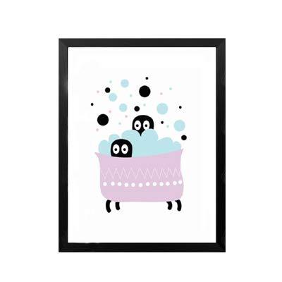 Cartoon Panda Ballon Einfache süße Tierkinder Schöne Hund Geschenk Leinwand Gemälde Wandkunst Bilder Poster Druck Schlafzimmer Wohnkultur 50 * 70cm