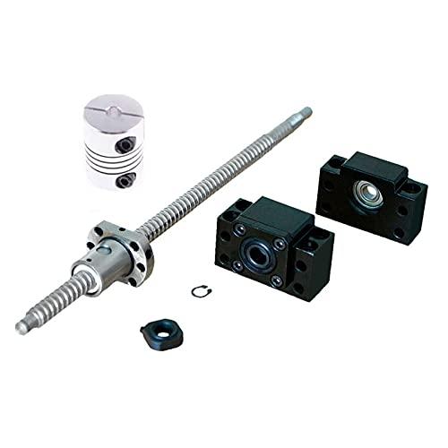 LOVCCIE Tornillo De Bola,SFU1605 Tornillo De Bolas Enrollado C7 con Extremo Mecanizado 250-1000mm+BK12 BF12 Soporte+Acoplador RM1605 Conjunto,For Impresora 3D CNC Partes (Size : 1000mm)