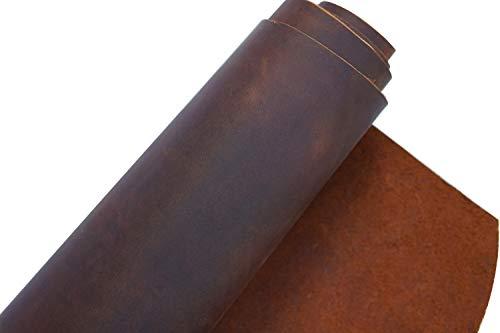 Rindsleder, Werkzeug Nähen Handwerk, Leder, quadratisch, 1,8-2,0 mm dick, Rindsleder, Hobby-Pferd, Handwerkskunst, Leder-Zubehör LEDERSTÜCKE … (Rotbraun, 12