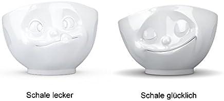 Preisvergleich für Fiftyeight Schale GLÜCKLICH & LECKER ca. 500ml / weiß