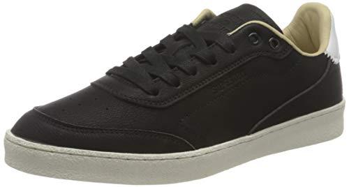Superdry Herren Premium Sleek Trainer Sneaker, Black, 44 EU