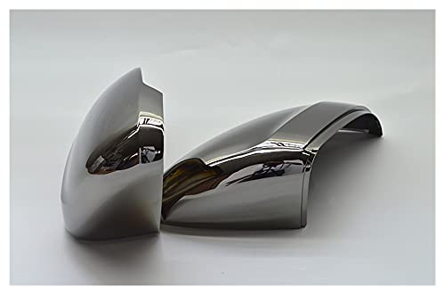 BAISHAN Tungsten Steel Black Retroview Espejo Lateral Caps Caps Ajuste para Volkswagen Passat B8 Variant Arteon 2016 2017 2018 2019 (Color : Without Lane Assist)