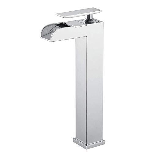 Edelstahl bleifrei gebürstet Neues Jiale-Becken (ohne Schlauch),Bad Armatur Wasserhahn Waschtischarmatur aus, Waschbecken Armatur mit Wasserfall Waschtisch Waschbecken, Einhebelmischer fürs Bad