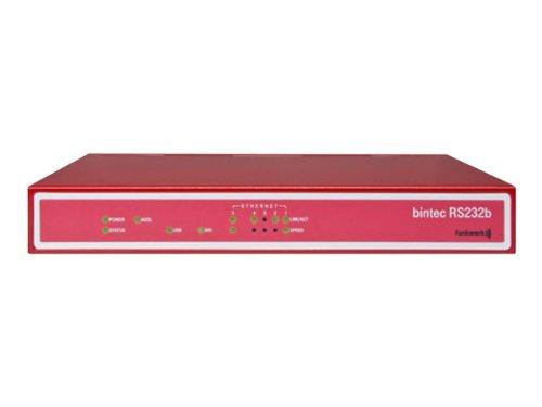 BINTEC RS232b IP Access Router Tischgeraet inkl. ADSL Modem Annex B ISDN 1x ISDN-S0 inkl.IPSec 5 Tunnel Zertifikate, 4+1 Gigabit Sw