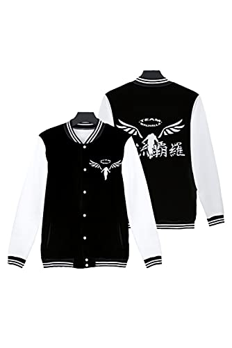 Taeyue Anime Tokyo Revenger Cosplay Disfraz Walhalla Chaqueta Uniforme de Béisbol Pullover Coat Sudadera Outwear, Negro, S