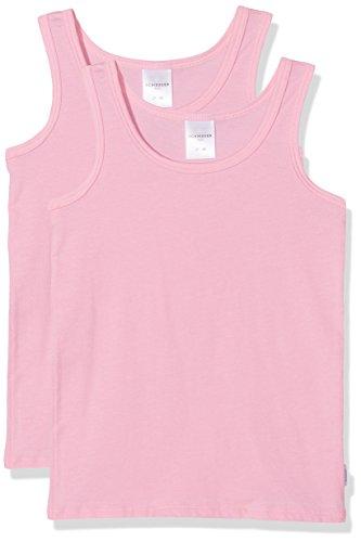 Schiesser Mädchen Unterhemd, 2er Pack, Rot (Rosa 503), 128