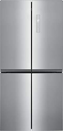 Frigidaire 17.4 Cu. Ft. 4 Door Refrigerator in Brushed Steel with Adjustable...