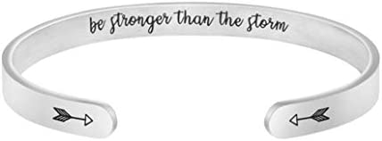 Joycuff Inspirational Gifts for Women Empowerment Jewelry Afformation Message Engraved Stainless product image