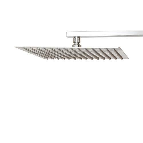 AmazonBasics Rain Shower Head, 12 Inch, Rectangle, Polished Chrome