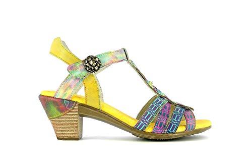 LAURA VITA BECTTINOO05Jaune Chaussures Femmes Cuir Sandales38
