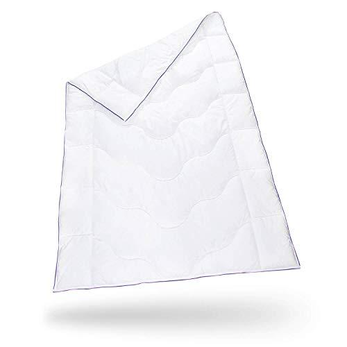 Bettdecke 135 x 200 inSPIRO   Flauschige Schlafdecke mit Feuchtigkeitsmanagement & hoher Atmungsaktivität   Leicht, weich und bequem   Perfekte 4-Jahreszeiten Bett-Decke   Ganzjahresdecke 135x200 cm