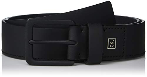 Calvin Klein Men's 35mm Rubberized Leather Belt, black, 34