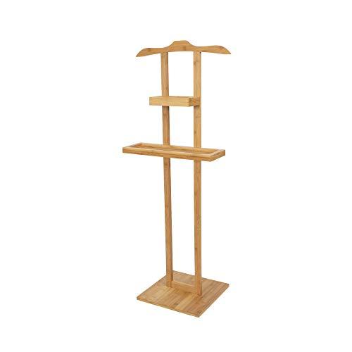 Compactor Valet pour Vêtements et Accessoires Balto, Bambou, Dim : 44.5 x 32 x H. 115 cm (base 32 x 32 cm), RAN6987
