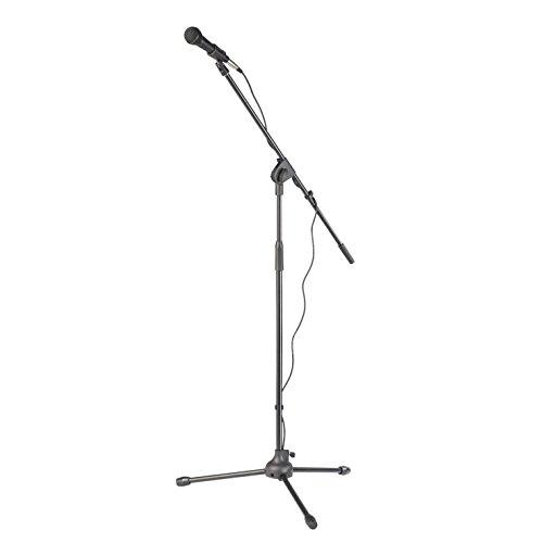 TIE Studio TMSK-100 Mikrofonset mit dynamischem Gesangsmikrofon TTDM-1500 und höhenverstellbarem Stativ