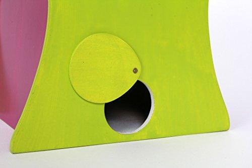 Small Foot by Legler Vogelhaus Hawaii mit süßen Verzierungen im paradiesischen Design, gemütliches Zuhause für alle Singvögel im Winter, mit kleiner Öffnung und schwenkbarem Verschluss, wunderschöne Gartendekoration zum Aufhängen - 2