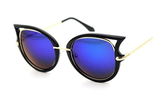 XYLUCKY Ojo de Gato Gafas de Sol D Marco Grande Universal de Las Mujeres polarización Gafas de Sol, g