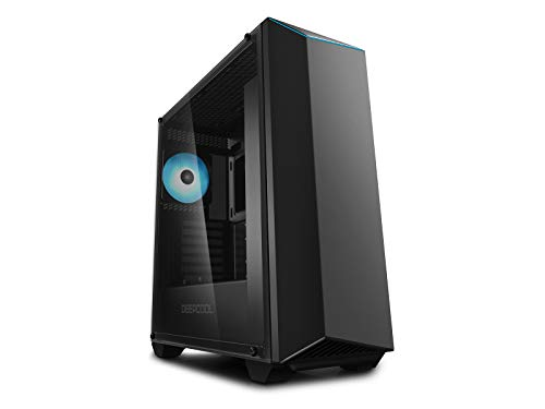 DeepCool Earlkase RGB V2 Black Case da Gaming per PC 0.7MM SPCC USB 3.0 Ventola RGB da 120mm Strip RGB Pannello Laterale in Vetro Temperato