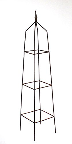 Rost Obelisk, quadratisch, Rankgerüst 140 cm hoch