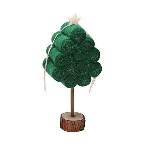 Luccase Weihnachten Spielzeug Mini Kunsthandwerks Displays Modell Bäume Kiefern Schneemann Rentier Modell mit Holzbasis Flasche Gärten Ornamente Dekoration Geschenke für Kinder (L)