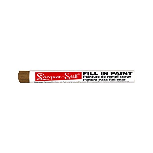 Markal Lacquer-Stik Highlighter Fill-In Paint Crayon, 3/8' Diameter, 4-1/4' Length, Gold (Pack of 12)