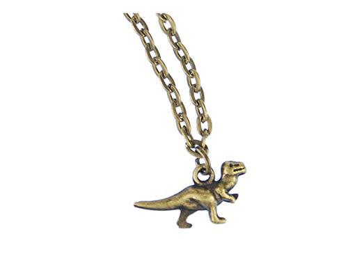Miniblings T-Rex Kette Halskette 45cm Rex Dino Dinosaurier Tyrannosaurus Bronze - Handmade Modeschmuck - Gliederkette Bronze