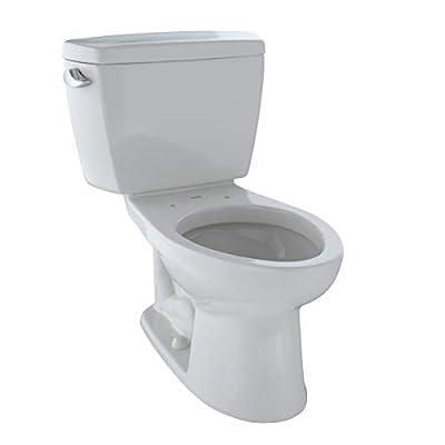 TOTO CST744E#11 Eco Drake Two-Piece Elongated 1.28 GPF Toilet, Colonial White