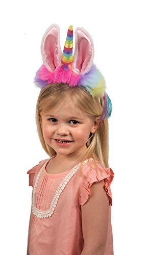 Dreamy Dress-Ups 62751 Headband, Llamacorn with Rainbow Horn, Einhorn Kopfbedeckung mit Haarreif Lama mit Horn