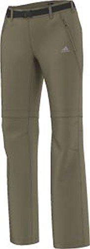 adidas Damen Cargohose mit extrem dehnbares Material W Flex Zip-Off Pants Hose, beige, 42
