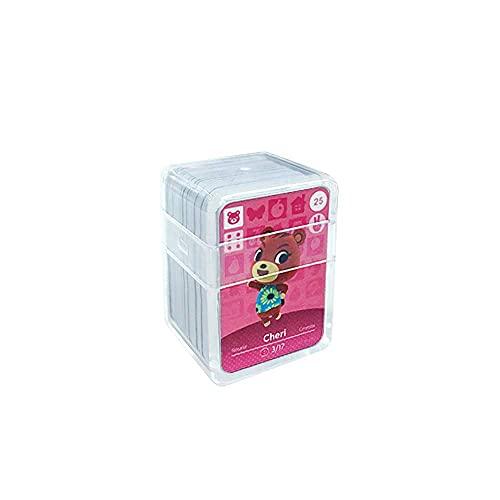 NFC Etikett Spielkarten Tag Game Cards für Animal Crossing, 24Stk(No. 25-No. 48). Botw Karten Cards mit Kristall Hülle kompatibel mit Nintendo Switch / Wii U