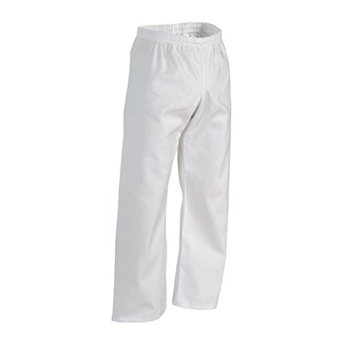 Century Martial Arts Middleweight Student Elastic Waist Pant - White, 5 - Adult Large