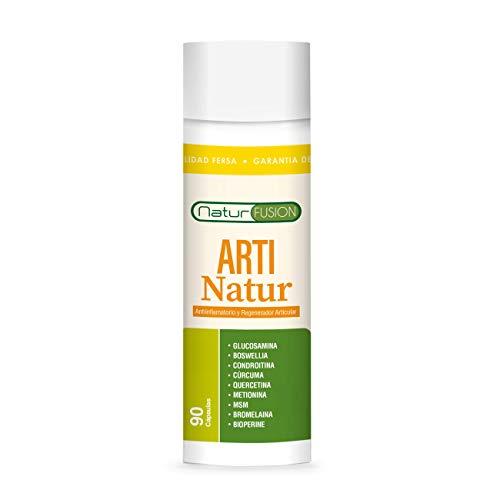 Potente Cúrcuma + Condroitina + Glucosamina + Bioperina Pura | Elimina dolores en músculos, articulaciones y huesos | Antiinflamatoria Natural con acción analgésica y regeneradora | 90 Caps.